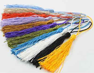 10 PCS Jewelry Making Craft Applique  Polyester Trim Mixed Tassel Pendants