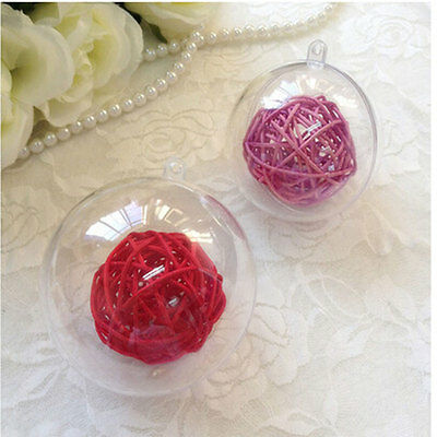 New 8cm Clear Christmas Decorations Hanging Ball Baubles Xmas Tree Home Decor