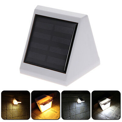 4 LED Solar Power PIR Motion Sensor Wall Light Outdoor Waterproof Garden Lamp