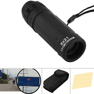 8x21 Mini Travel Monocular Telescope Tourism Scope Binoculars Survival Hunting
