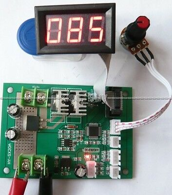 500W 20A 12V-24V DC Brush Motor PWM Speed Controller + Display Governor Driver