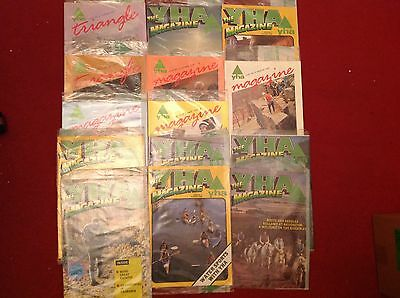 JOBLOT 14 YHA YOUTH HOSTEL MAGAZINES 1980's IN ORIGINAL PLASTIC SLEEVES