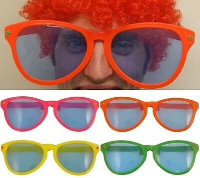 Jumbo Clown Fancy Dress Glasses Giant Sunglasses Comedy Specs 4 Colours New h