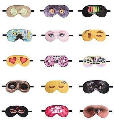 Sleeping Eye Mask Mens Women Funny Novelty Soft Eyeshade Blindfold Bedtime Trave