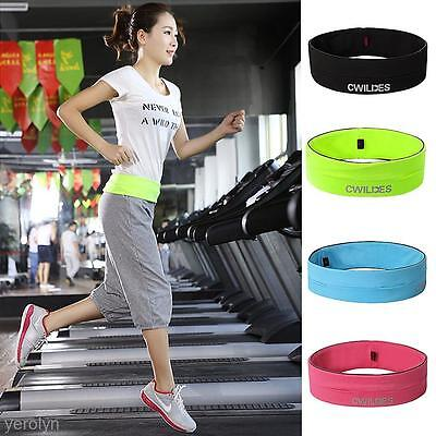 Fashion Unisex Elastic Sport Jogging Cycling Running Belt Waist Bag for Phone