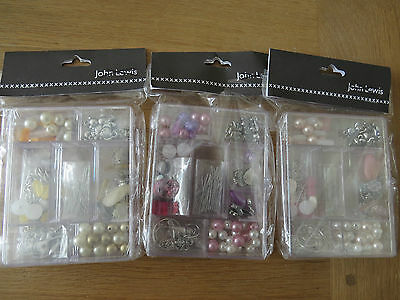 JOHN LEWIS Bead Box Set with Findings - Choice Colour