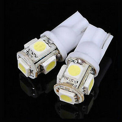 Hot 20Pcs T10 5050 W5W 5 SMD 194 168 LED Car Side Wedge Tail Light Lamp Bulb 12v