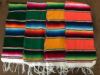 "Decorative Hand Woven Mexican Serape Saltillo Blanket - Table Runner 23"" x 58"""