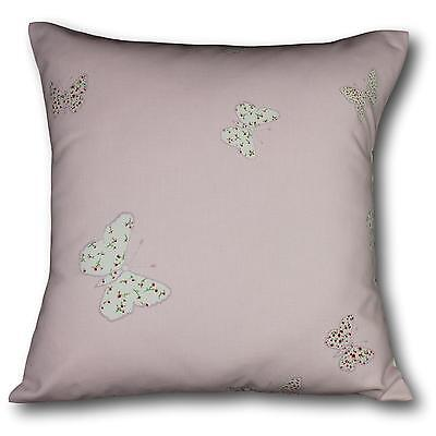 "Cushion cover made in Laura Ashley Pink Bella Butterfly fabric 17"" / 43cm square"