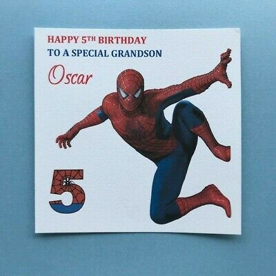 Personalised Spideman Birthday Card -Any Age/Relation- 2nd 3rd 4th 5th 6th {G61}