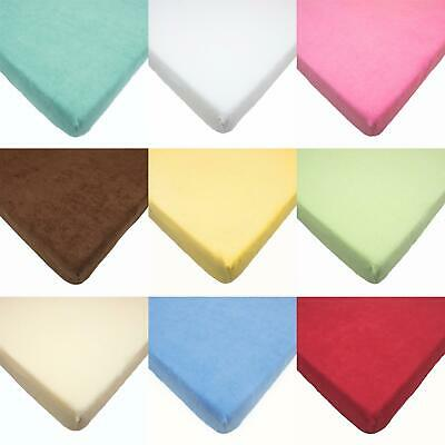 Terry Towelling Fitted Sheet 160x70 Junior Bed Mattress Sheet / Baby / Toddler