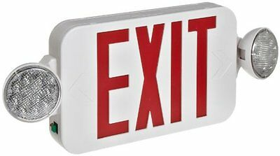 Morris Products 73054 Combo LED Exit Emergency Light, Remote Capable Type, Red L