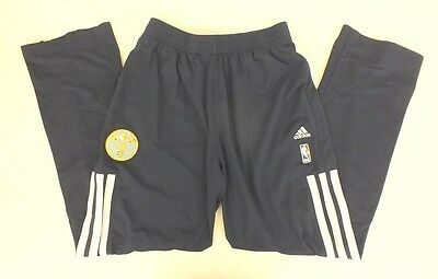 innovative design 572bb 978e9 Adidas NBA Authentics TEAM WORN Denver Nuggets NAVY Tear-Away Sweatpants  XL+2