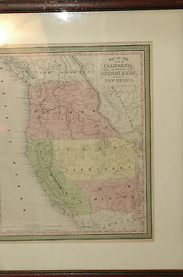 A new map of the state of California, the territories of Oregon & Utah, 1850