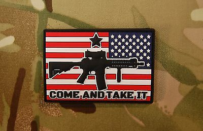 Come And Take It Reverse Flag 3D PVC Morale Patch MoeGuns 2A American Patriot