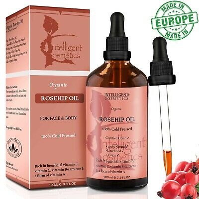 Rosehip Oil Certified Organic 100% Cold Pressed Pure & Natural Best Facial Oil