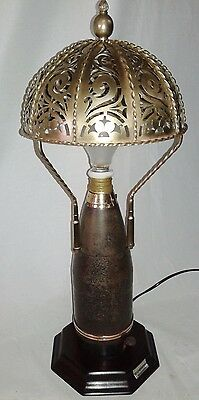Antique Lamp With Bell Caller Hotel Ringer 1911 - 56 Military Custom Trench Art