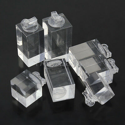 Set of 7 Clear Acrylic Ring jewelry Display Stand Rack Ring Display Holder