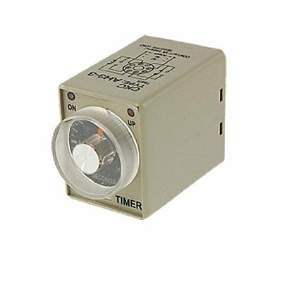 AC 110V Power on Delay Timer Time Relay 0~30 Second AH3-3 DPDT 8 Pin, New, Free