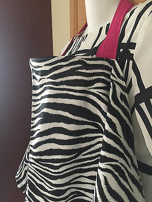SALE NURSING COVER like HOOTER hider* BREASTFEEDING COVER LADY ZEBRA Pink Strap