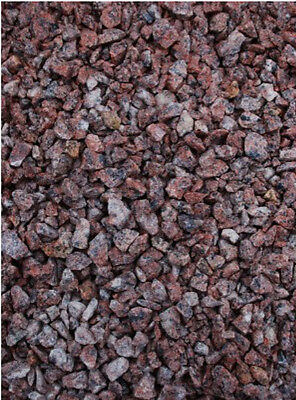 20kg RED SPOTTED GRANITE GRAVEL STONES 2-8mm LANDSCAPE GARDEN PATH CHIPPINGS