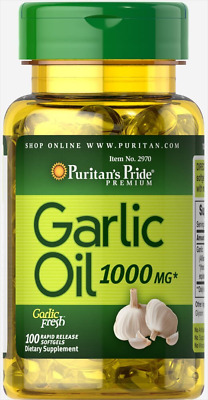 Garlic Oil 1000 mg-100 Rapid Release Softgels - PURITANS PRIDE - FREE POSTAGE