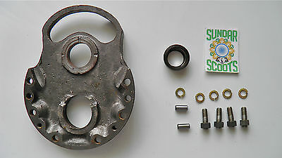 S.i.l Gp, Gearbox End Plate Kit With Fittings.for Indian Gp Lambretta Scooters