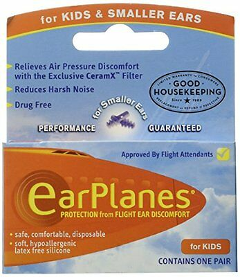 Ear Plugs - Children's Ear Protection for Airplane Travel, New, Free Shipping
