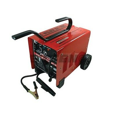 Heavy Duty 65 - 250A Amp Arc Welder Welding Kit With Wheels Dual Voltage 240V