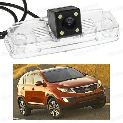 4 LED Car Rear View Camera Reverse Backup CCD Fit for Kia Sportage 2011-2015