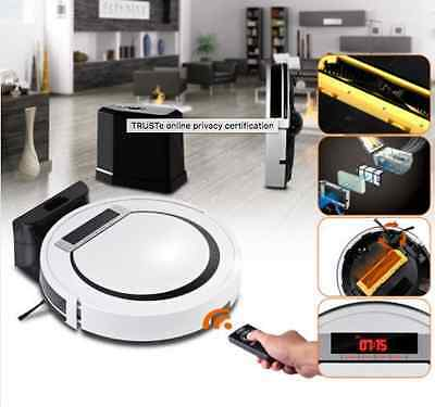 Super Slim 80mm Robotic Vacuum Cleaner High Glossy LED Touch Screen