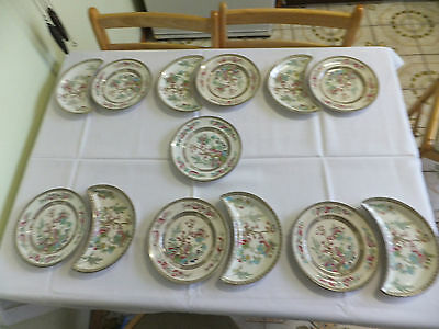 Antique Vintage Bridgwood Indian Tree Plates #989