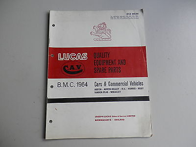 LUCAS Parts List BMC 1964 Austin Morris Austin-Healey MG Riley Wolseley VDP
