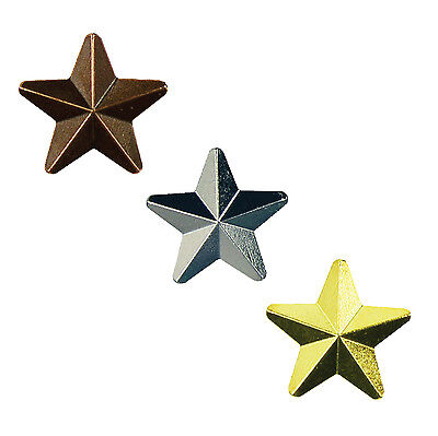 Award Star School Badges Gold, Silver and Bronze