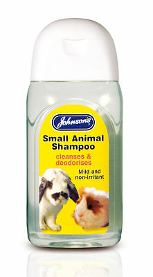 Johnsons Rabbit Shampoo for Guinea Pigs Ferrets and Rats Small Animals 125ml