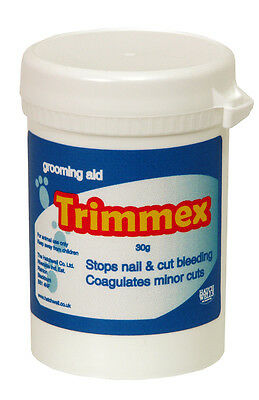 Hatchwells Trimmex Styptic Powder Stops Bleeding Nails Claws Cuts Coagulant 30g