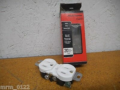 Pass & Seymour CRB5362-WCC12 Whit Dual Outlet 20A 125V New In Box