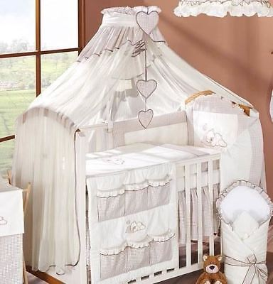 LUXURY BABY CANOPY / DRAPE 480cm WIDTH + HOLDER Fit COT /COT BED - Brown