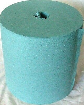 (4) 525ct Durable Centerfeed Blue Shop Towel Refill Rolls