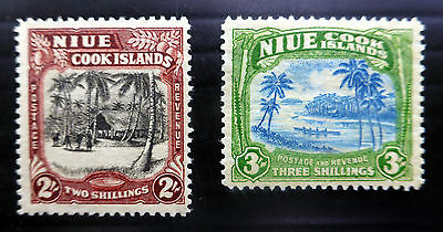 NIUE 1938 - 2/- & 3/- SG76 & 77 Mounted Mint NEW LOWER PRICE FP6570