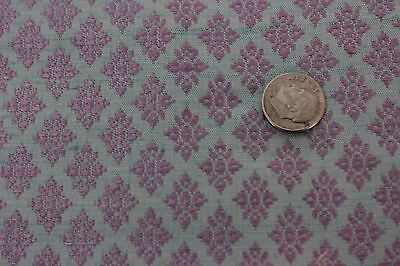 Vintage French Woven Silk Unused Fabric Textile Yardage c1920~Small Scale~Dolls