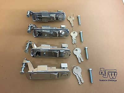 4 Chrome Compression Latch  Lever Lock Horsebox Trailers Locker Door Tack Box C2