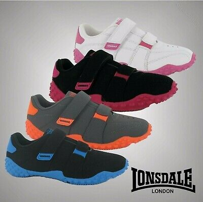 Kids Boys Girls Lonsdale Stylish Casual Durable Fulham Trainers Shoes Size C10-2