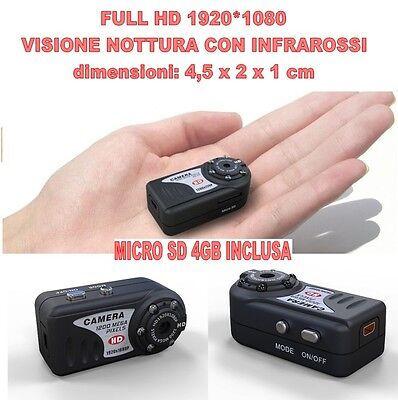 Mini Dv Md80 Full Hd 1920 1080 Night Vision Micro Room Spy 12 Mpixel + Sd 4Gb