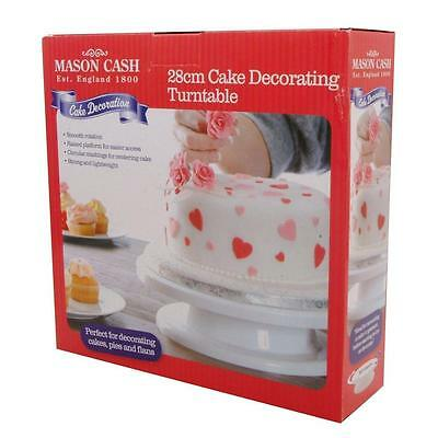 Mason Cash 28cm Cake Decorating Turntable in Gift Box Strong and Lightweight