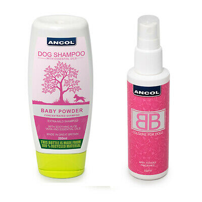 Ancol BB Dog Puppy Cologne or Shampoo New Baby Powder For All Coats