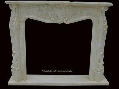 Beautiful Hand Carved Marble European Design Marble Figural Fireplace Mantel Z12