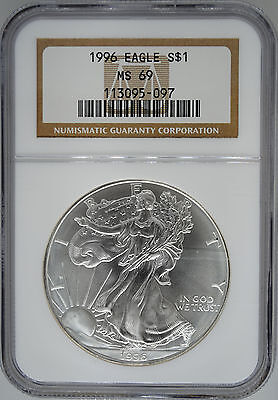 1996 American Silver Eagle NGC MS69 - 089