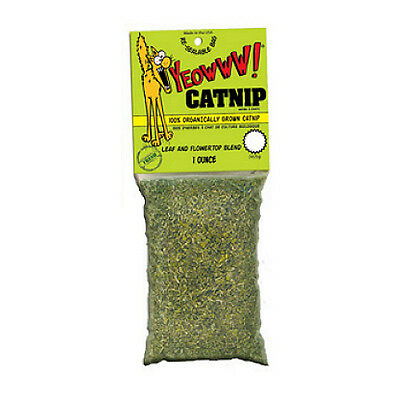 Yeowww Natural Organic Catnip Leaves for Cats Encourages Play Aromatic Stimulant