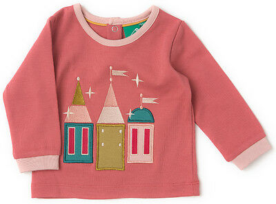 Little Green Radicals Enchanted Castle t shirt top Organic Cotton age 2 - 3